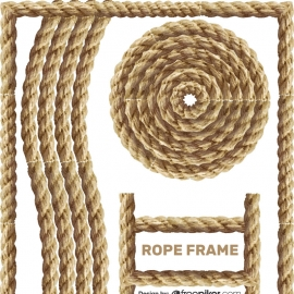 Rope Frame Vector Design