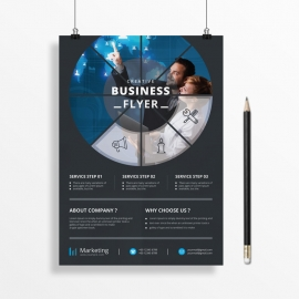 Round Business Flyer