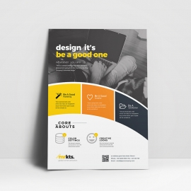 Round Shape Corporate Flyer Template