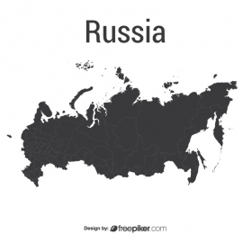 Russia Map Vector Design
