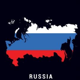 Russia Map Vector Design