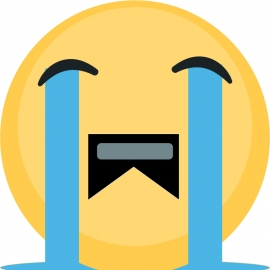 Sad Emoji Vector Graphics