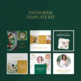 Salad Restaurant Instagram Booster Kit