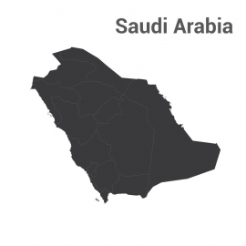 Saudi Arabia Map Vector Design