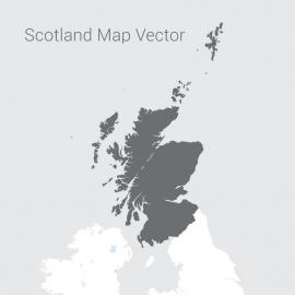 Scotland Map By Dark Vector Design