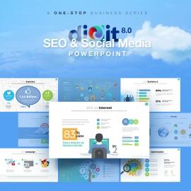 SEO & Social Media Powerpoint   Digit 8