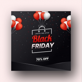Shopping Bag Social Media Black Friday Banner