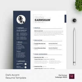 Sidebar Resume & Cover Letter Layout with Dark Accent