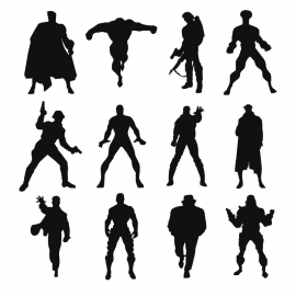 Silhouette Action Icon
