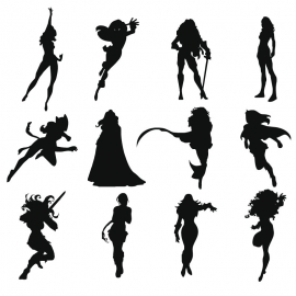 Silhouette Action Icon Women