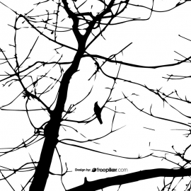 Silhouettes Tree Texture Vector