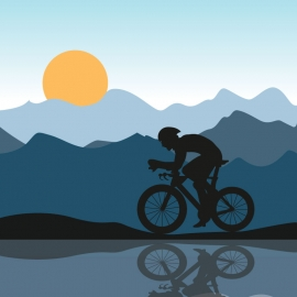 Silhouettes Vector For Cycle Reach