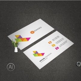 Simple Business Card With Colorful