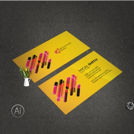 Simple Business Card With Yellow Accent