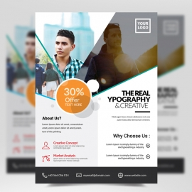 Simple Business Corporate Flyer Template