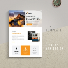 Simple Business Flyer With Boxs