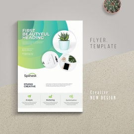 Simple Business Flyer With Green Accent