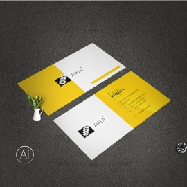 Simple BusinessCard With Yellow Accent
