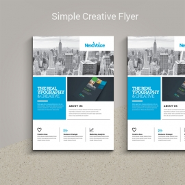 Simple Creative Boxs Flyer