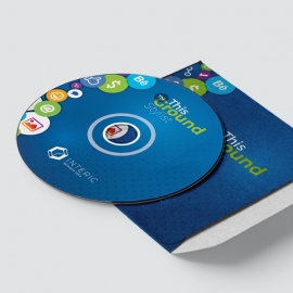 Simple Creative Business CD Sticker