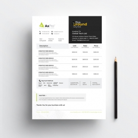 Simple Creative Business Invoice Template