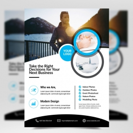 Simple Creative Cyan Flyer