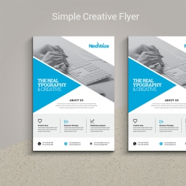 Simple Creative Cyan Flyer Template