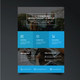 Simple Creative Flyer with Black Cyan Accent