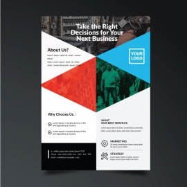 Simple Creative Flyer with Green Accent