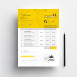 Simple Creative Invoice Template