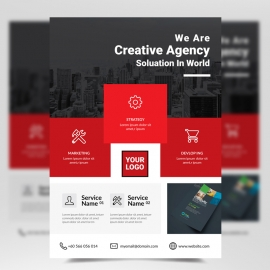 Simple Creative Red Boxs Flyer