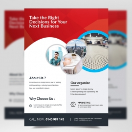 Simple Creative Red Flyer Template