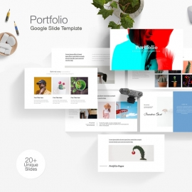 Simple Portfolio Google Slide Template