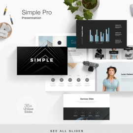 Simple Pro Powerpoint Presentation Template