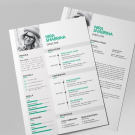 Simple Resume Design With Paste Concepts