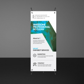 Simple Rollup Banner Template