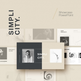 Simplicity Showcase PowerPoint Template