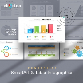 Smart Art & Table Infographic Powerpoint   Digit 3