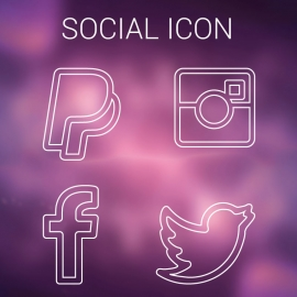 Social Icon with Background
