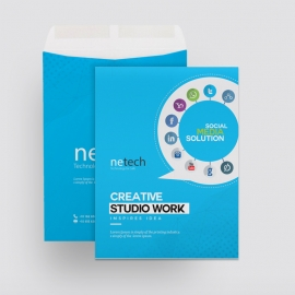 Social Media and Social Icons Catalog Envelope
