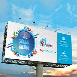 Social Media Billboard Banner