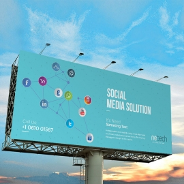 Social Media Billboard Sinage