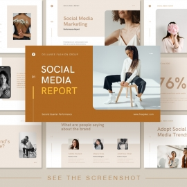 Social Media Canva Presentation Template
