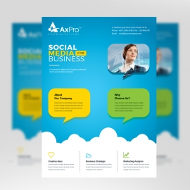 Social Media Flyer With Blue Accent
