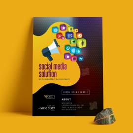 Social Media Flyer With Social Icon