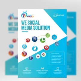 Social Media Flyer with Social Icons