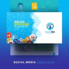 Social Media Google Slide for Social Marketing & Promotion