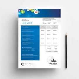 Social Media Invoice with Social Icons