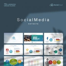 Social Media Keynote Social Marketing Template