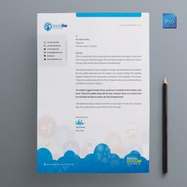 Social Media Letterhead Design